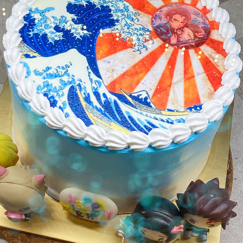 Custom Demon Slayer cake.
